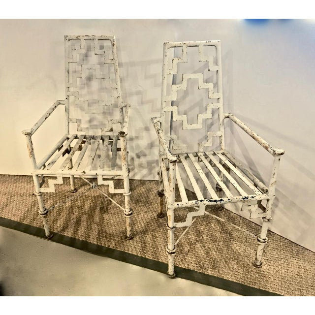Art Deco Iron Patio Chairs - a Pair For Sale - Image 9 of 9