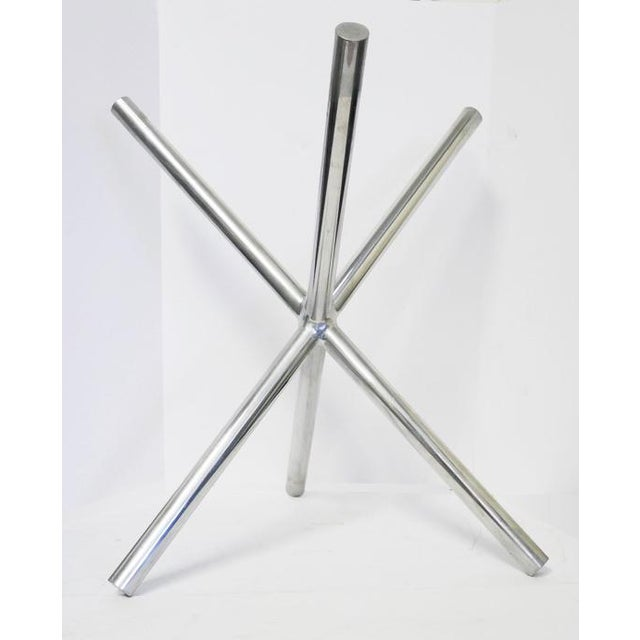 Mid-Century Chrome Jax Tripod Table Attributed to Milo Baughman For Sale - Image 4 of 7