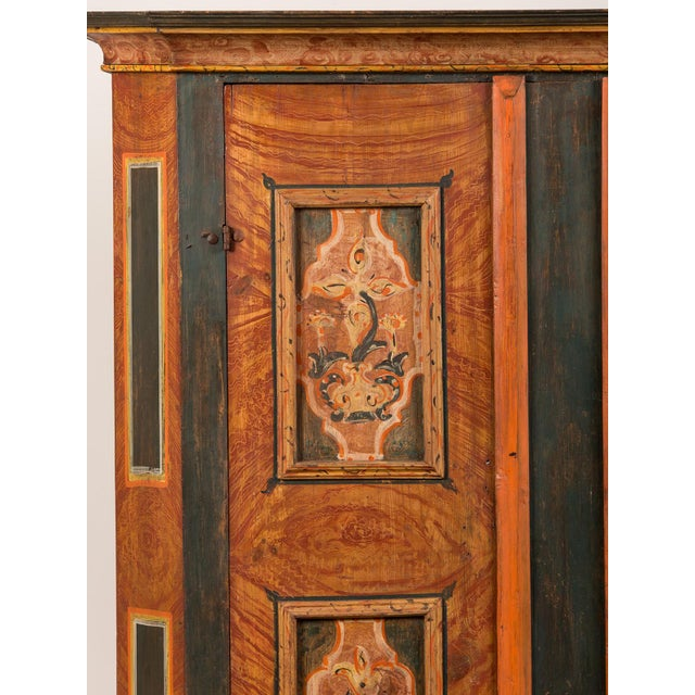 Antique German Hand Painted Dowry Cabinet, Two Doors, circa 1800 - Image 9 of 11