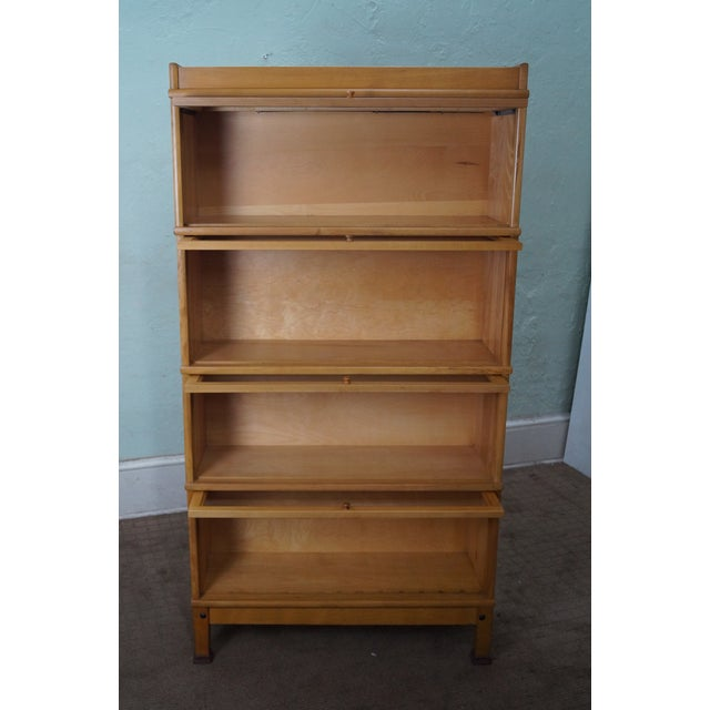 Vintage Maple Vertical Barrister Bookcase A Image 3 Of 10