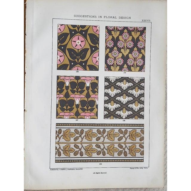 Ornamental Design Folio Size Chromolithograph - 2 For Sale - Image 4 of 4