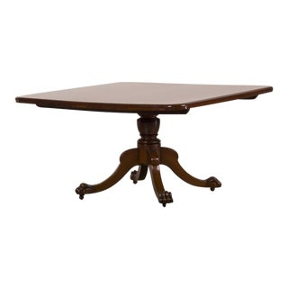 Antique English William IV Square Mahogany Tilt Top Dining Table circa 1835 For Sale