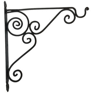 Wrought Iron Scrolling Wall Mounted Bracket for Lanterns or Signs For Sale