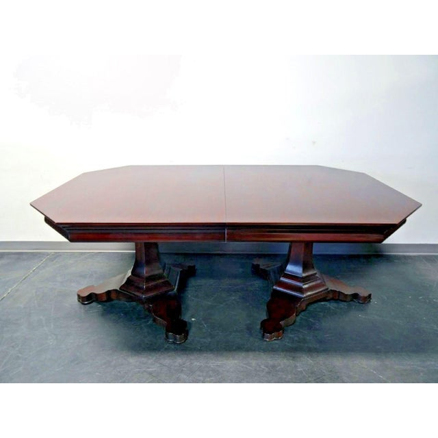 EJ Victor Transitional Banquet Size 10ft Double Pedestal Dining Table. Stunning contemporary dining table by high-end...