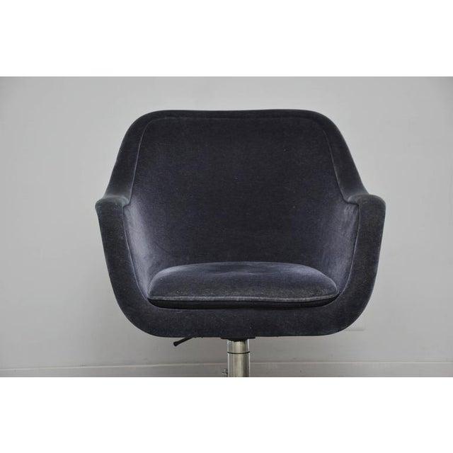 Ward Bennett Desk Chair in Mohair - Image 3 of 7