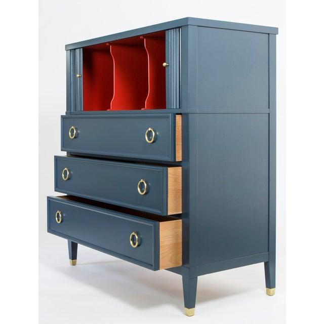 Baker Teal & Red Milling Road Tambour Dresser - Image 8 of 8