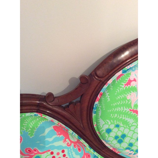 Lilly Pulitzer Refurbished Antique Settee/Sofa - Image 4 of 7