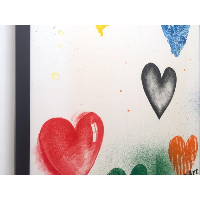 1970s Jim Dine Rare Vintage 1970 Framed Silkscreen Print Whitney Museum Collector's Pop Art Exhibition Poster For Sale - Image 5 of 13