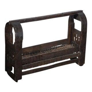 African Wooden Primitive Basket For Sale