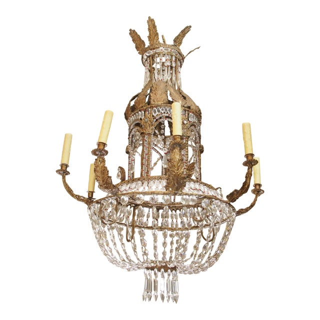 Empire Crystal Chandelier - Image 1 of 9