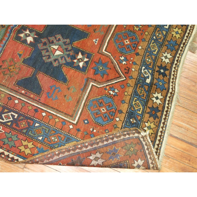 Primitive Antique Caucasian Rug, 4'6'' x 8' For Sale - Image 3 of 11