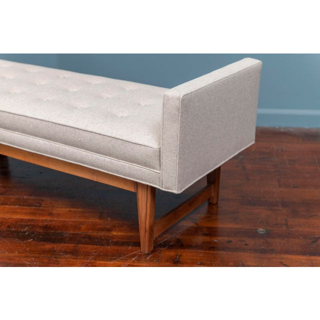 1960s Mid-Century Modern Upholstered Bench by Selig For Sale - Image 5 of 8
