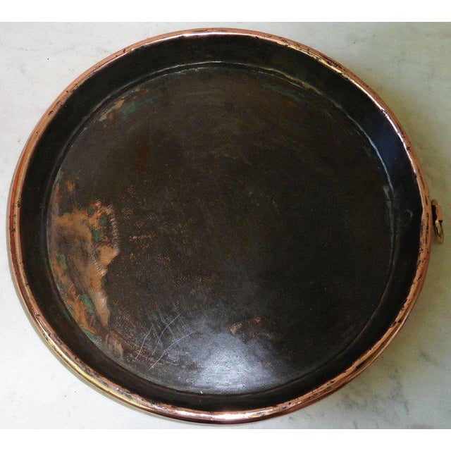 19th Century French Copper Pie Platter Pan For Sale - Image 4 of 4
