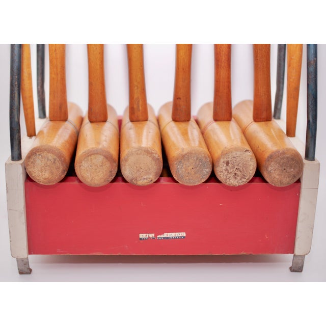 Mid Century South Bend Croquet Set For Sale In Atlanta - Image 6 of 12