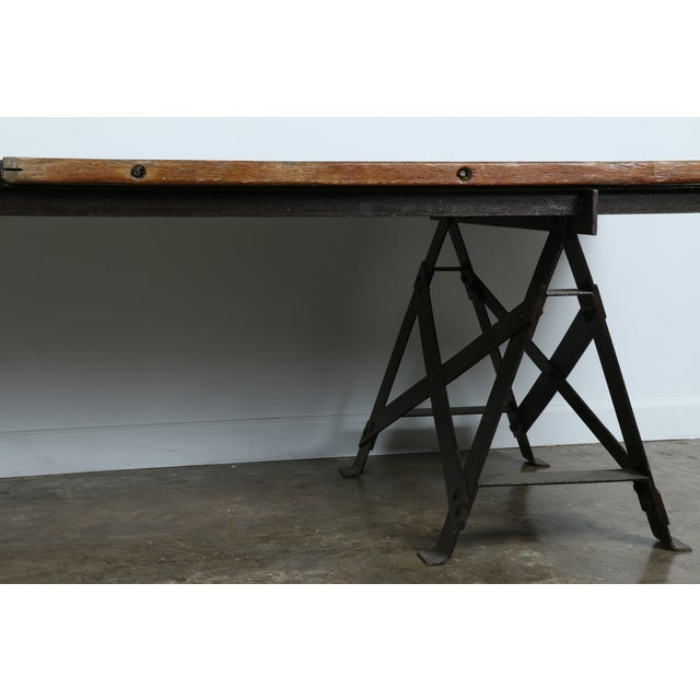 Vintage Industrial Table - Image 4 of 11