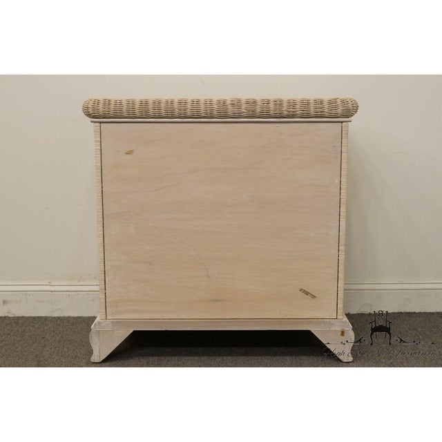 20th Century Country Pennsylvania House White Wicker Nightstand For Sale - Image 11 of 13