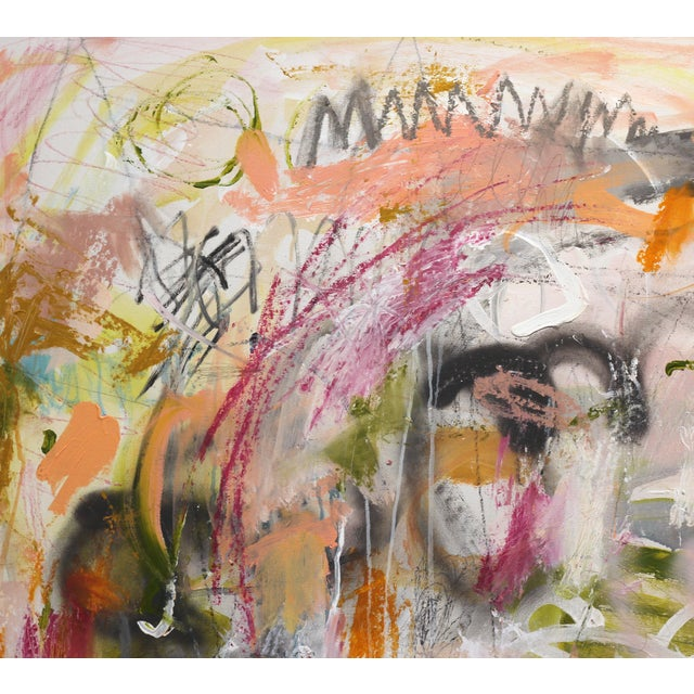 """Abstract Lesley Grainger """"Over and Over"""" Contemporary Painting For Sale - Image 3 of 9"""
