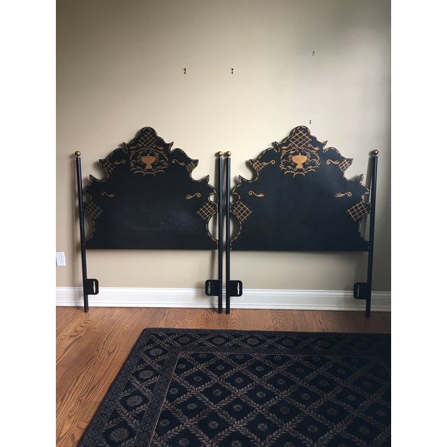 Traditional Headboards - a Pair For Sale - Image 4 of 9
