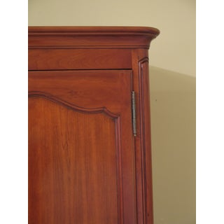 1990s Vintage Kindel Classic Cherry French Louis XV Style Bedroom Armoire Preview