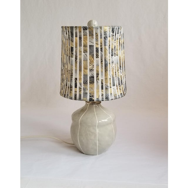 2020s Small Gray Table Lamp For Sale - Image 5 of 6