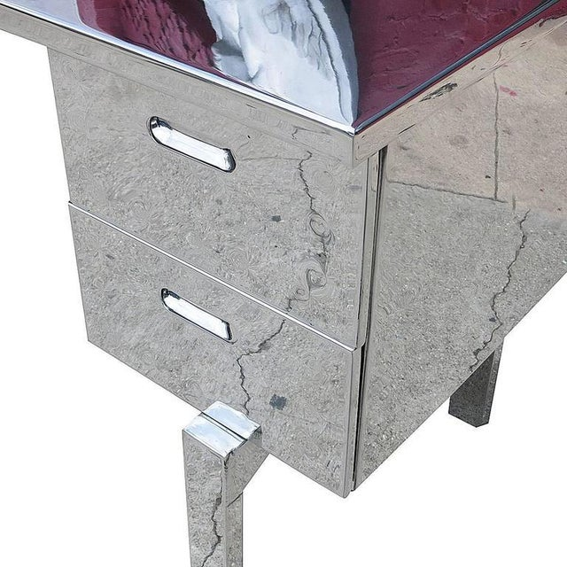 Polished Aluminium WWII Campaign Desk For Sale - Image 9 of 10