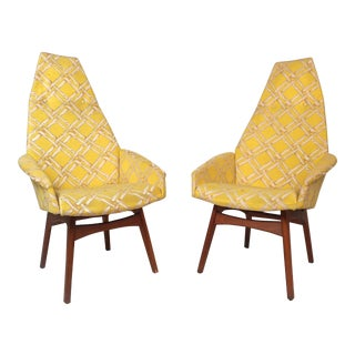 Mid-Century Adrian Pearsall Style Lounge Chairs - a Pair For Sale