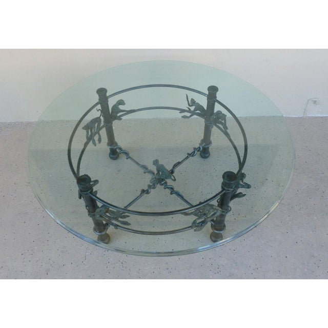 Traditional Vintage Wrought Iron Monkeys Coffee Table For Sale - Image 3 of 10
