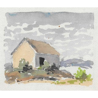 1940s Watercolor by Henry Gasser For Sale