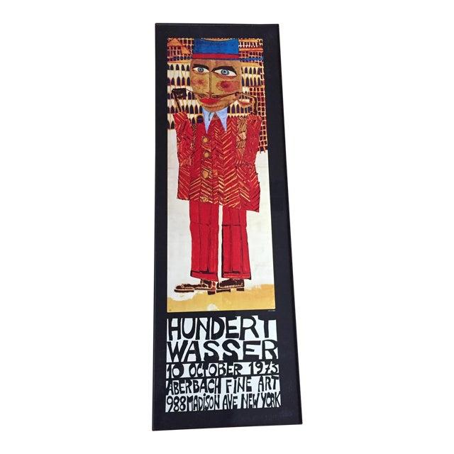 """Vintage 1973 Framed """"Hundertwasser"""" Exibition Poster For Sale"""