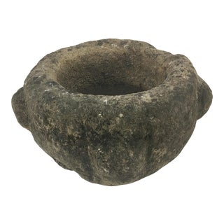 French Antique Stone Mortar