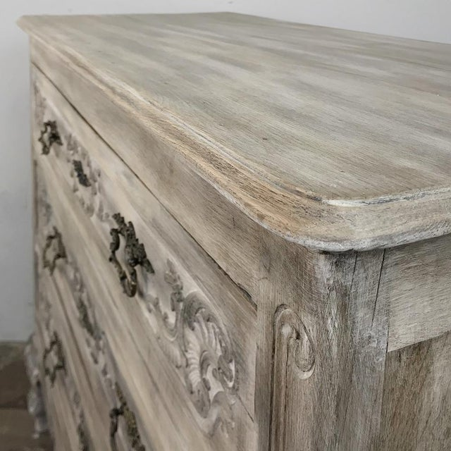 Gray 19th Century Country French Whitewashed Commode For Sale - Image 8 of 13