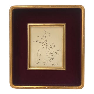 1920s Portrait of a French Woman, With Frame With Velvet Lining For Sale