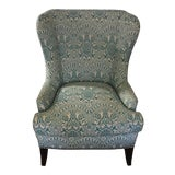 Image of Modern Wingback Chair Quadrille China Seas For Sale