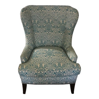 Modern Wingback Chair Quadrille China Seas For Sale