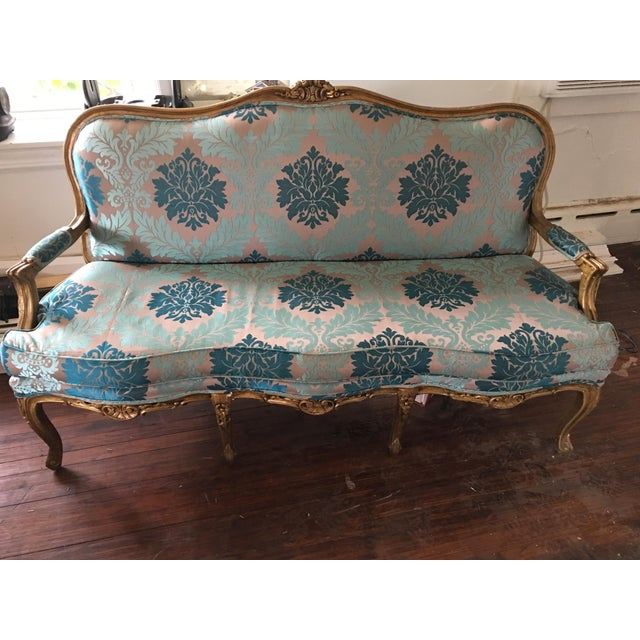 Early 20th Century Early 20th Century Vintage Restored Settee For Sale - Image 5 of 5