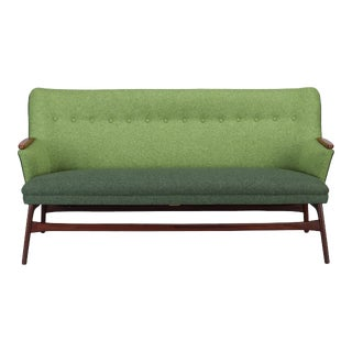 Edgy Danish Reupholstered Green Sofa from CFC Silkeborg, 1960s For Sale