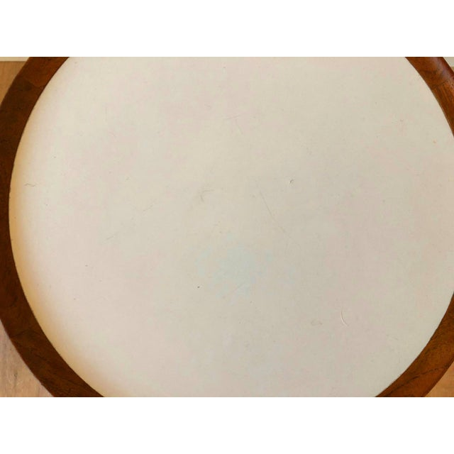 Hans Anderson Mid-Century Danish Teak Pedestal Accent Table For Sale In Seattle - Image 6 of 8