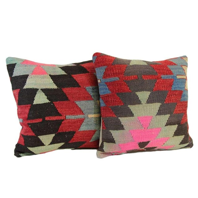 Kilim Pillow Covers - A Pair - Image 3 of 6