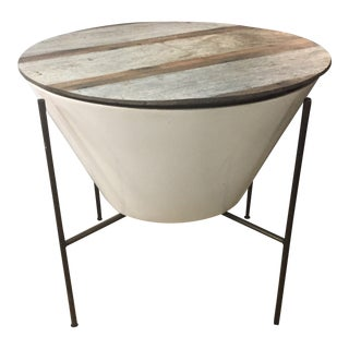 Rustic Thomas Bina Danica Table With Storage For Sale