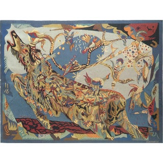 Mid 20th Century French Aubusson Tapestry by Gynning and Pinton Freres For Sale