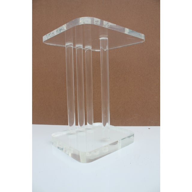 Mid-Century Modern Lucite Side Table - Image 10 of 11