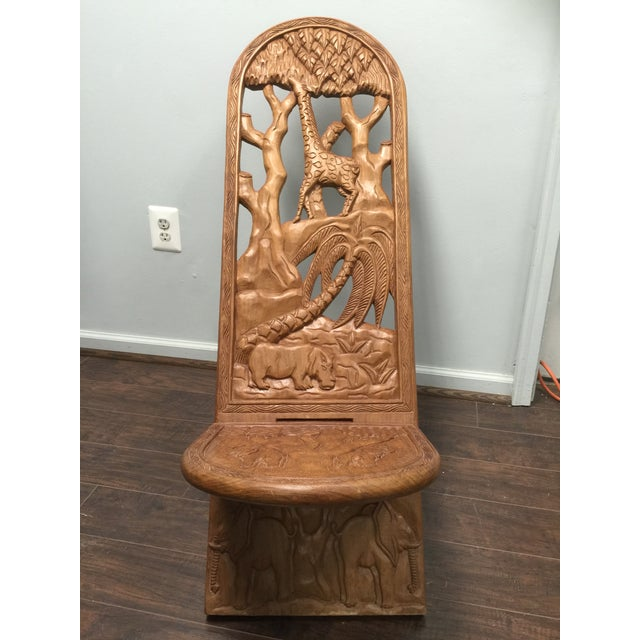 Kenyan Hand Carved Lazy-Chair - Image 4 of 6