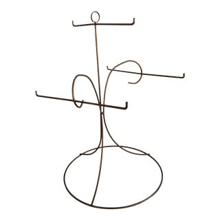 1950s Art Deco Metal Display Stand For Sale