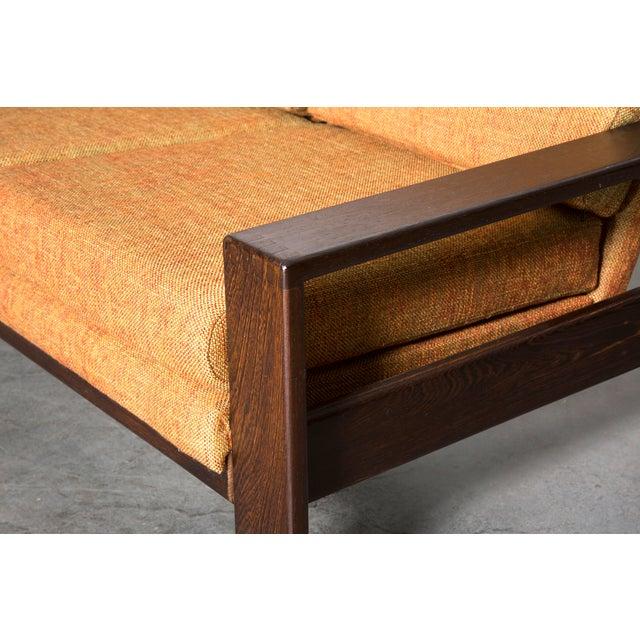 Wenge Modern 1970's Three-Seater Sofa - Image 7 of 11