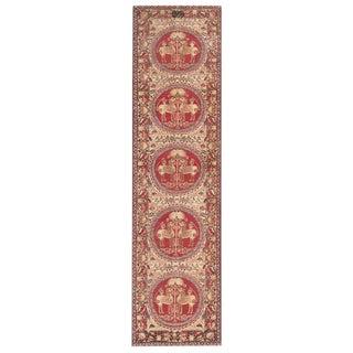 Antique Persian Kerman Runner Rug - 3′ × 11′ For Sale