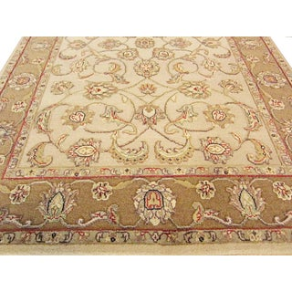 Floral Indian Handwoven Jaipur Rug - 4'×6'1'' Preview