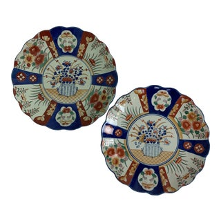 Mid 20th Century Large Imari Chargers - a Pair For Sale