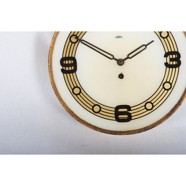 Mid-Century Modern Mid Century Wall Clock by Prim For Sale - Image 3 of 5