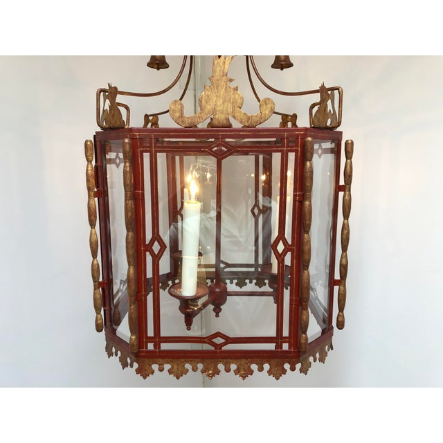 Asian Vintage Chinoiserie Lantern Pendant For Sale - Image 3 of 13