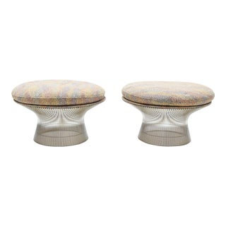 Warren Platner Nickel Stools - a Pair For Sale